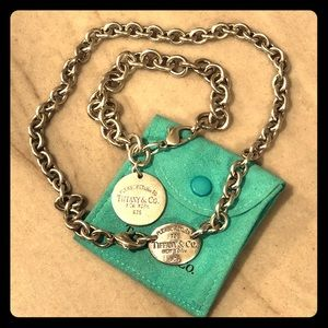 Tiffany & Co. silver bracelet and necklace